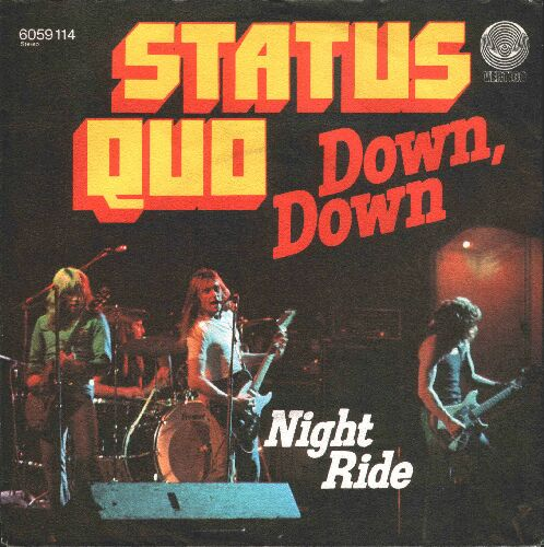 german cover of the Status Quo single 'Down Down'
