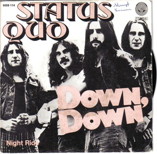belgian cover  of the Status Quo single 'Down Down'