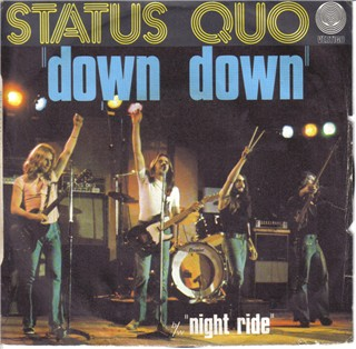 french cover of the Status Quo single 'Down Down'