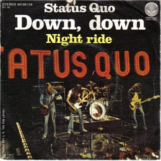 spain cover  of the Status Quo single 'Down Down'
