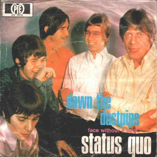 german Cover of the Status Quo Single 'Down the dustpipe'