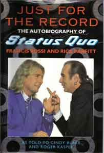 die erste Status Quo-Biografie 'Just for the record'.