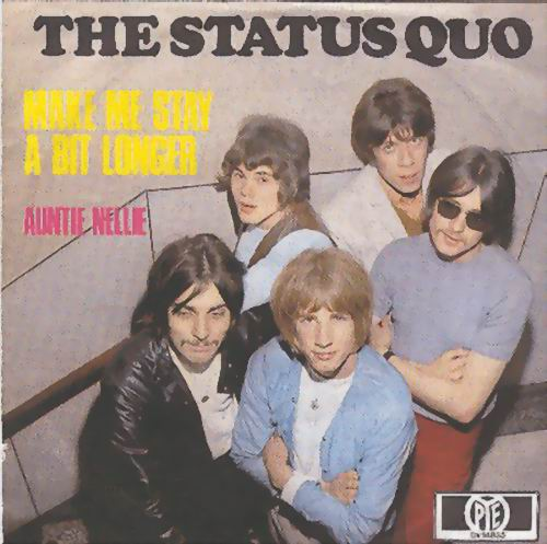 deutsches Cover der Status Quo Single 'Make me stay a bit longer'