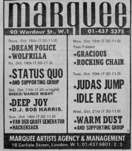 Marquee poster 1970