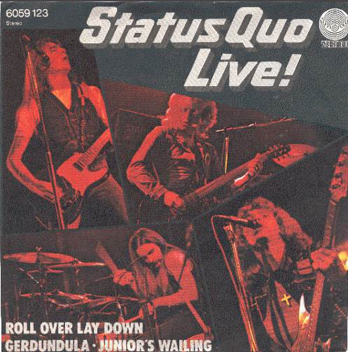 german cover of the Status Quo EP 'Roll over lay down'
