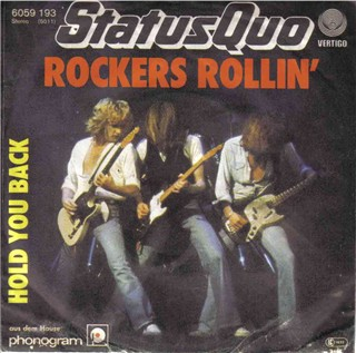 german cover of the Status Quo single 'Rockers Rollin'