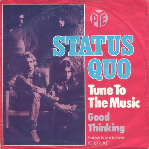 deutsches Cover der Status Quo Single 'Tune to the music'