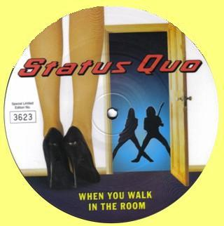 Picture Disc der Single: 'When you walk in the room'